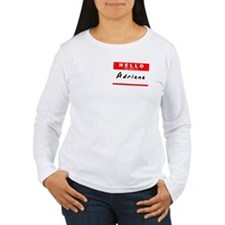 Adriana, Name Tag Sticker T-Shirt