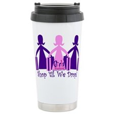 Shop 'til We Drop Ceramic Travel Mug