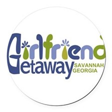 Girlfriend Getaway Savannah.png Round Car Magnet