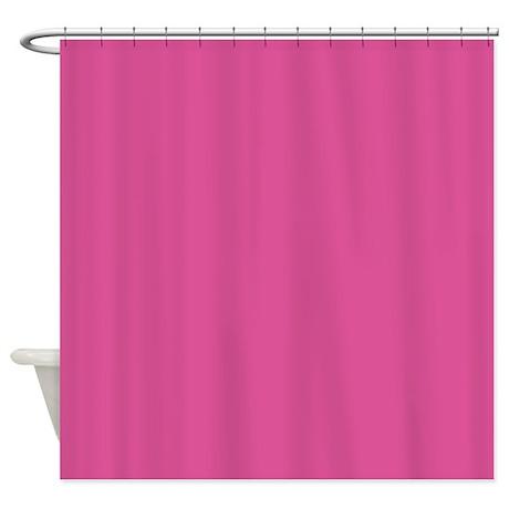 deep pink / dark pink shower curtain