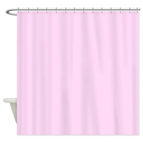 light pink shower curtain