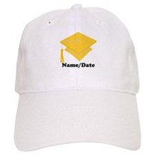 Personalized Gold Graduation Baseball Cap