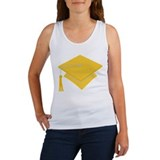 Gold Grad Hat Gift Women's Tank Top