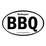 BBQ Barbeque Oval Decal