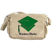 Personalized Green Graduation Messenger Bag