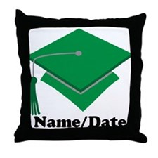 Personalized Green Graduation Throw Pillow