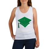 Green Grad Hat Gift Women's Tank Top