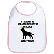 Black Labs In Heaven Bib