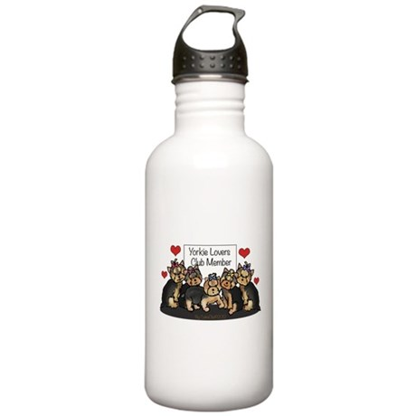Yorkie Lovers Club Member Stainless Water Bottle 1