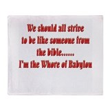 Whore-of-Babylon-black.png Throw Blanket