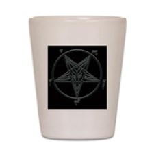 Baphomet-black-background.png Shot Glass