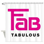 Fab Tabulous Shower Curtain