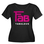 Fab Tabulous Women's Plus Size Scoop Neck Dark T-S
