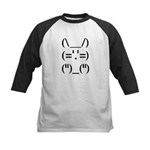 Hip Hop Text Bunny Kids Baseball Jersey