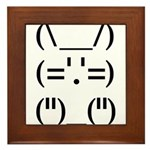 Hip Hop Text Bunny Framed Tile