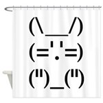 Hip Hop Text Bunny Shower Curtain