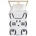 Hip Hop Text Bunny Twin Duvet