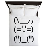 Hip Hop Text Bunny Queen Duvet