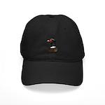 Ringneck Rooster Head Black Cap