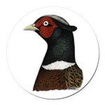 Ringneck Rooster Head Round Car Magnet