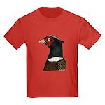 Ringneck Rooster Head Kids Dark T-Shirt