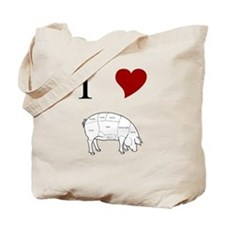 I Love Pig Tote Bag