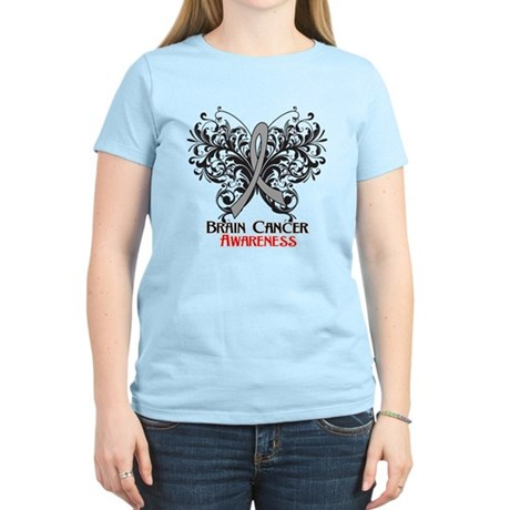 Butterfly Brain Cancer Women's Light T-Shirt