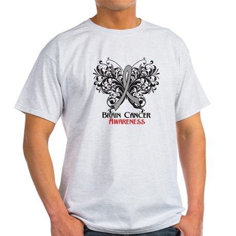 Butterfly Brain Cancer Light T-Shirt