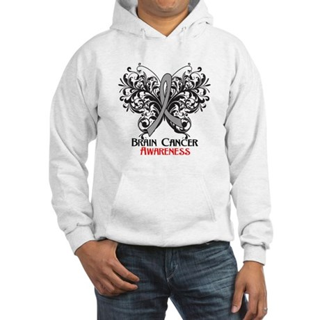 Butterfly Brain Cancer Hooded Sweatshirt