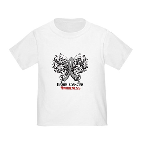 Butterfly Brain Cancer Toddler T-Shirt