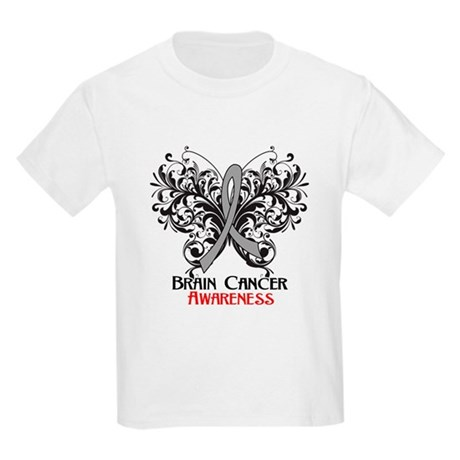 Butterfly Brain Cancer Kids Light T-Shirt