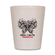 Butterfly Brain Cancer Shot Glass