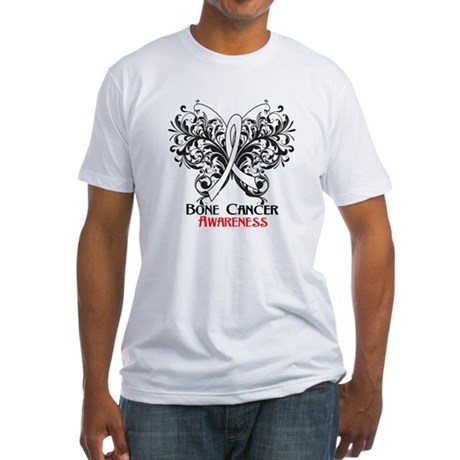Butterfly Bone Cancer Fitted T-Shirt