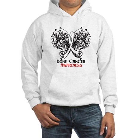 Butterfly Bone Cancer Hooded Sweatshirt