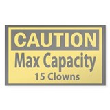 Clown Capacity Bumper Stickers
