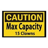 Clown Capacity Decal