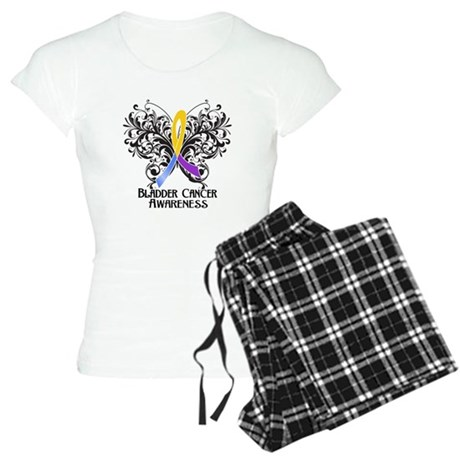 Butterfly Bladder Cancer Women's Light Pajamas