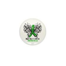 Butterfly Bile Duct Cancer Mini Button (10 pack)