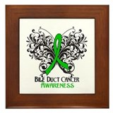 Butterfly Bile Duct Cancer Framed Tile