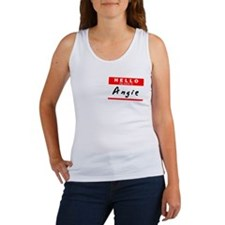 Angie, Name Tag Sticker Women's Tank Top