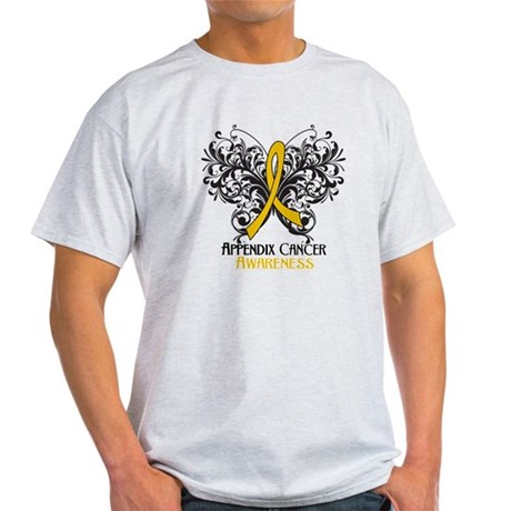 Butterfly Appendix Cancer Light T-Shirt