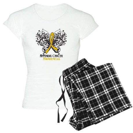 Butterfly Appendix Cancer Women's Light Pajamas