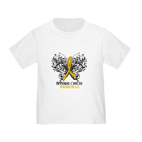 Butterfly Appendix Cancer Toddler T-Shirt