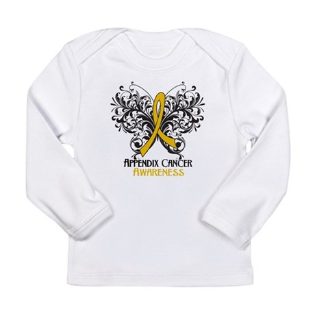 Butterfly Appendix Cancer Long Sleeve Infant T-Shi