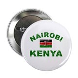 "Nairobi Kenya designs 2.25"" Button (10 pack)"