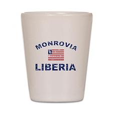 Monrovia Liberia designs Shot Glass