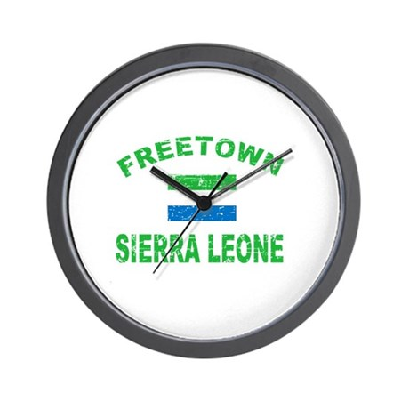 Freetown Sierra Leone designs Wall Clock