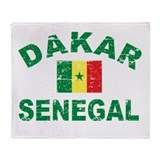 Dakar Senegal designs Throw Blanket