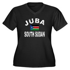 Juba South Sudan designs Women's Plus Size V-Neck