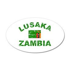 Lusaka Zambia designs 22x14 Oval Wall Peel